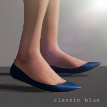 Lea pointy flat - classic blue